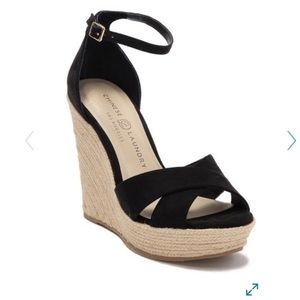 Chinese Laundry Morgan micro suede wedges